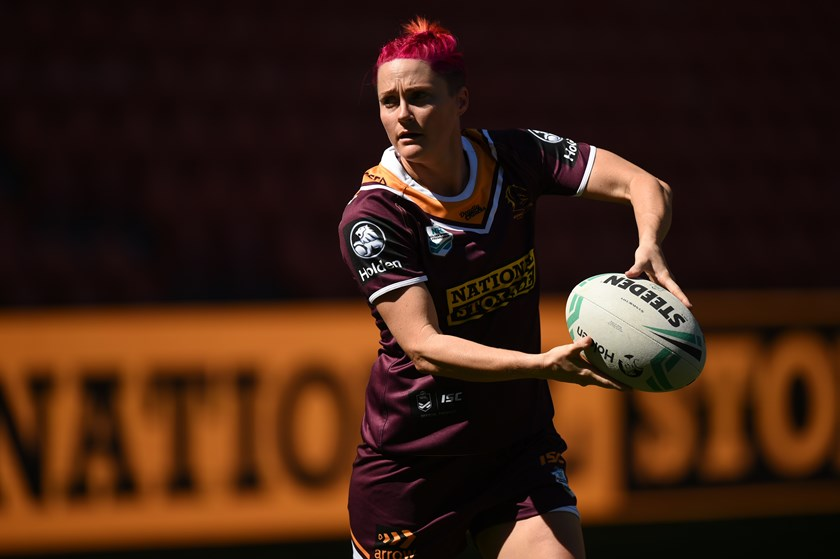 Chelsea Baker in action for the Brisbane Broncos in 2018. Photo: NRL Images