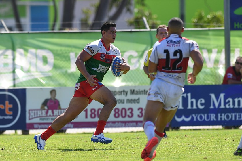 Wynnum Manly Seagulls forward Keenan Palasia.