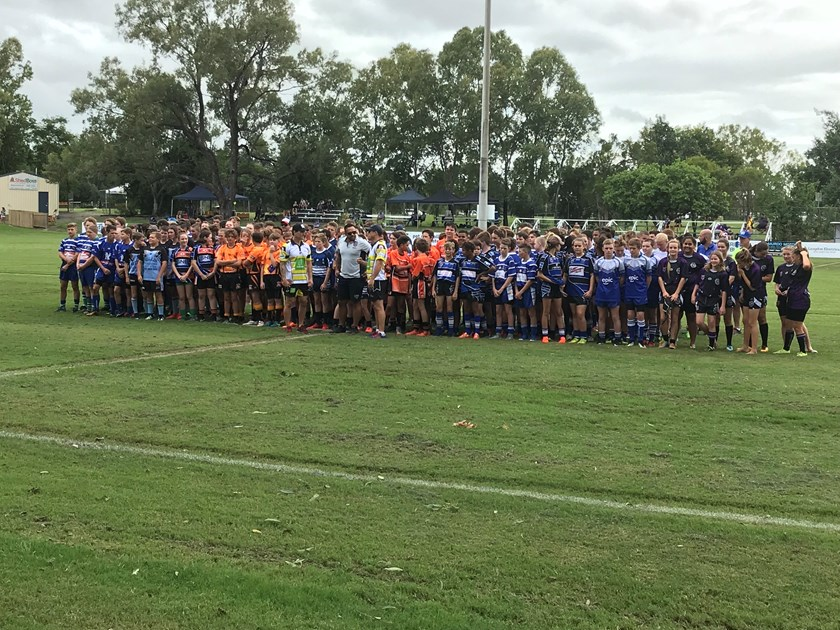 All the competing teams lined up before the 2018 carnival. Photo: Supplied