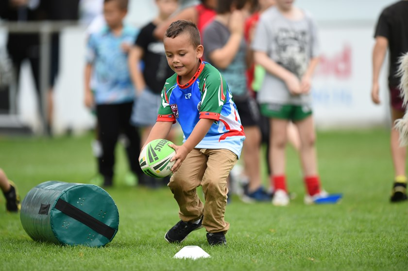 As well as cultural demonstrations; there was also a kids clinic and other activities held at Ron Stark Oval. Photos: Scott Davis / QRL Media