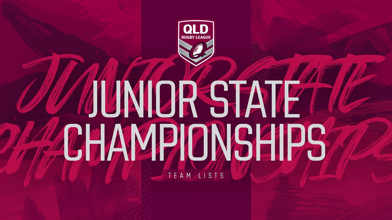 QRL Junior State Championships team lists - QRL