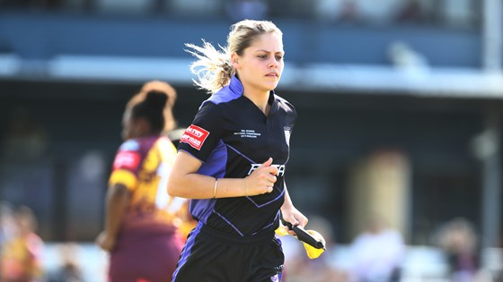 'It was a very special moment... but as a referee, not a female'