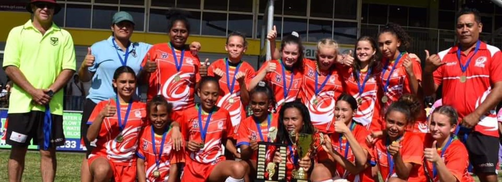 Southern Cyclones Under 14 girls win premiership