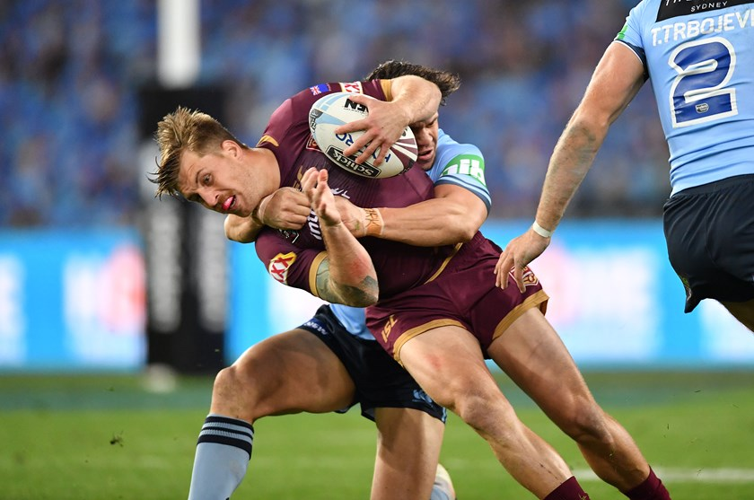 Cameron Munster takes on the Blues in Game II at Sydney.