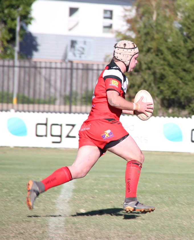 Flynn Purkis on the burst for Wests Panthers in the under 18 game. Photo: supplied