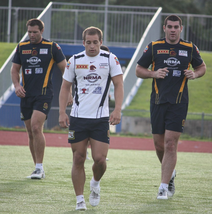 Brisbane Broncos players were a huge hit when they held a training session in Cairns at Barlow Park in 2011 Photo: Maria Girgenti