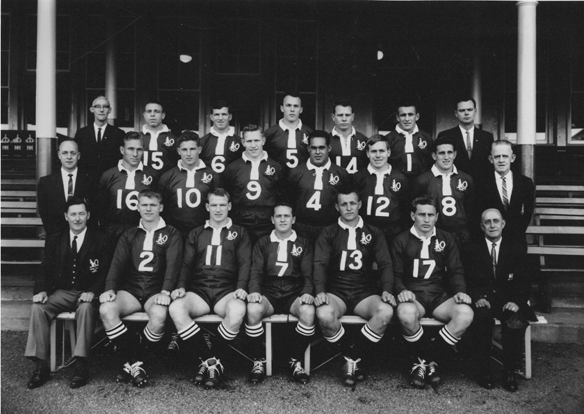 The 1963 Queensland team; Ray is back row, second from the right.