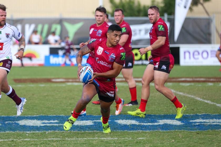 Mackay Cutters five-eighth Ata Hingano. Photo: Cameron Stallard/QRL