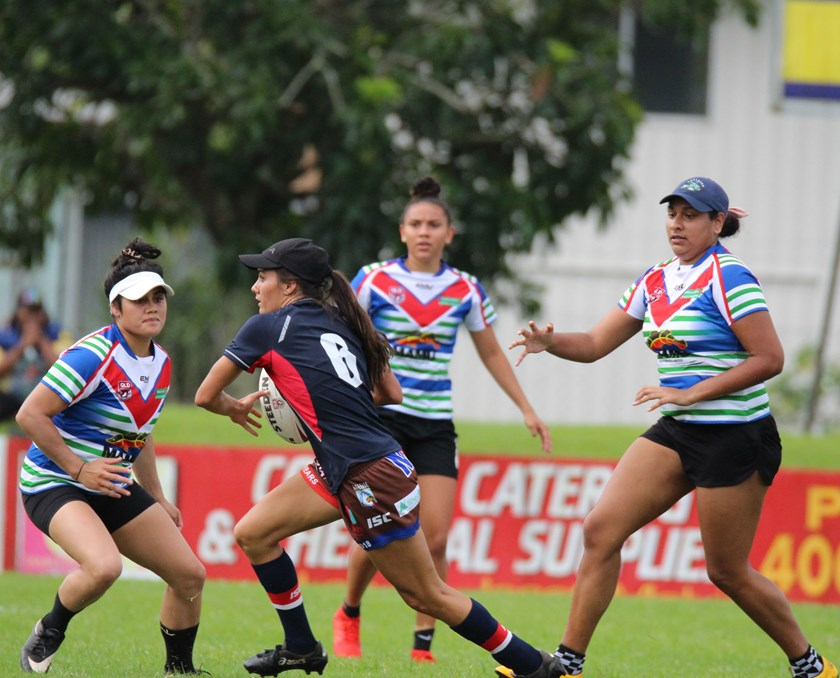 Women's touch league action in the round three game between Innisfail v Atherton at Callendar Park Photo: Maria Girgenti