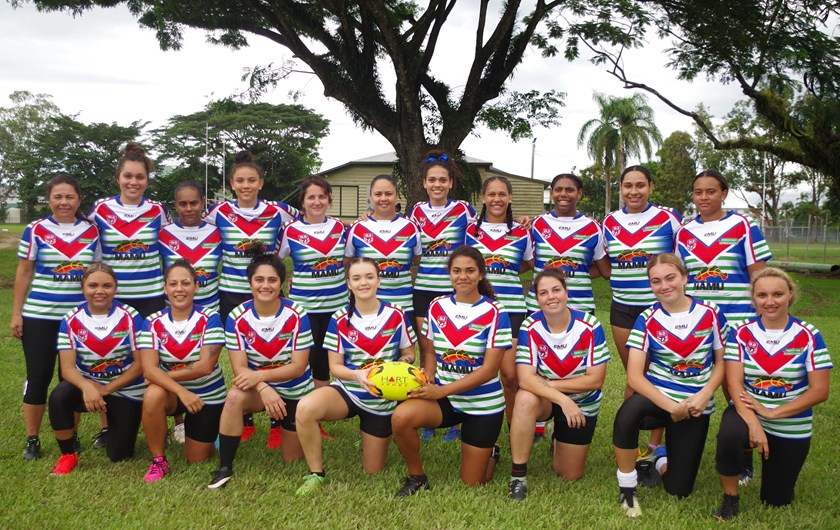 Innisfail Leprechauns ladies touch league team who will face Atherton in the grand final at Barlow Park Photo: Maria Girgenti