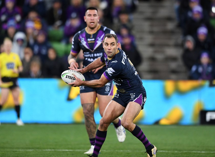 Cameron Smith in action during his 400th NRL game. Photo: NRL Images