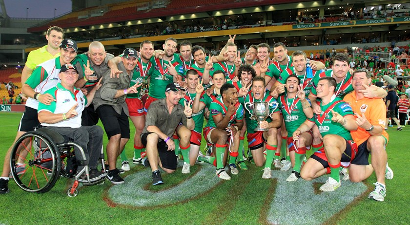 The 2012 premiership winning Wynnum Manly Seagulls. Photo: QRL
