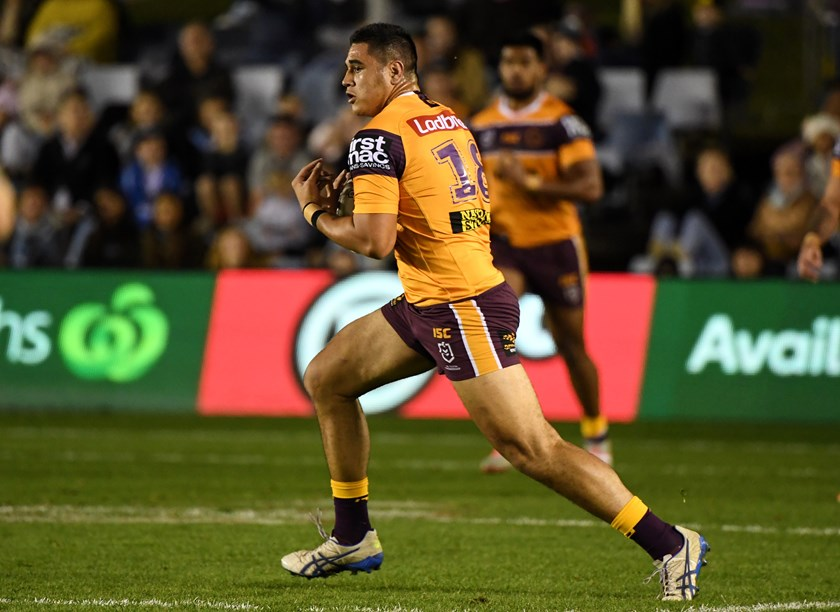 Keenan Palasia in action for the Brisbane Broncos. Photo: NRL Images
