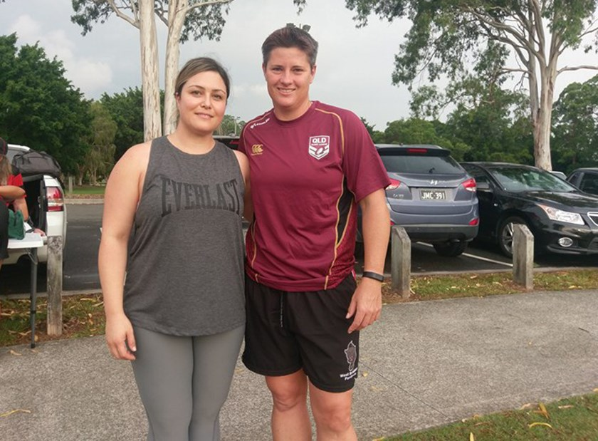 Australian and Queensland representative Heather Ballinger has provided guidance to Gil on her rugby league journey. Photo: Submitted