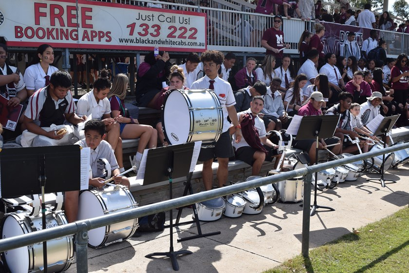 Marsden SHS had a huge fan base head out to support their team, including some lively drummers.