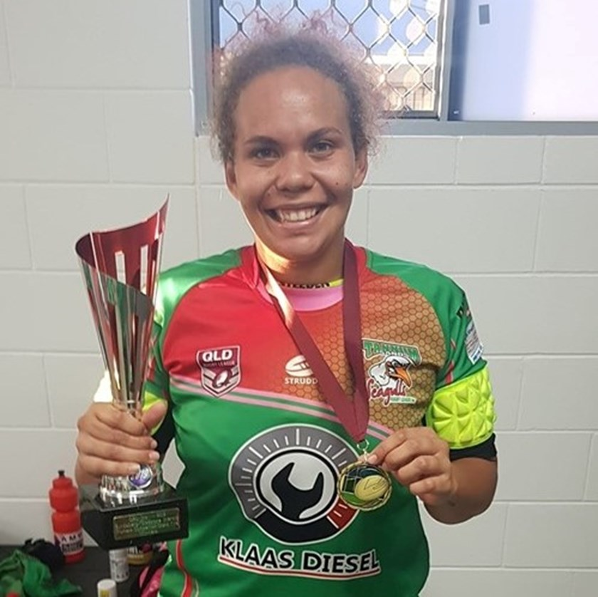Hannah Geesu scored two tries to guide the Seagals to premiership glory.
