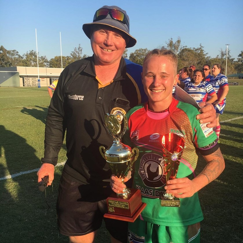 Tannum's Krystal Sulter was awarded the Gladstone Rugby League Women's Player of the Year after their grand final victory.