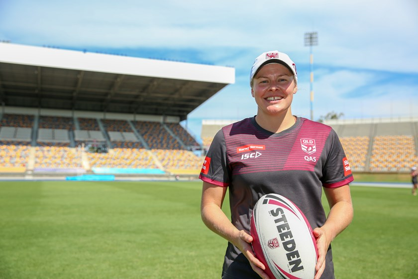 Taking part in the QRL's Harvey Norman Women's Development squad. Photo: QRL