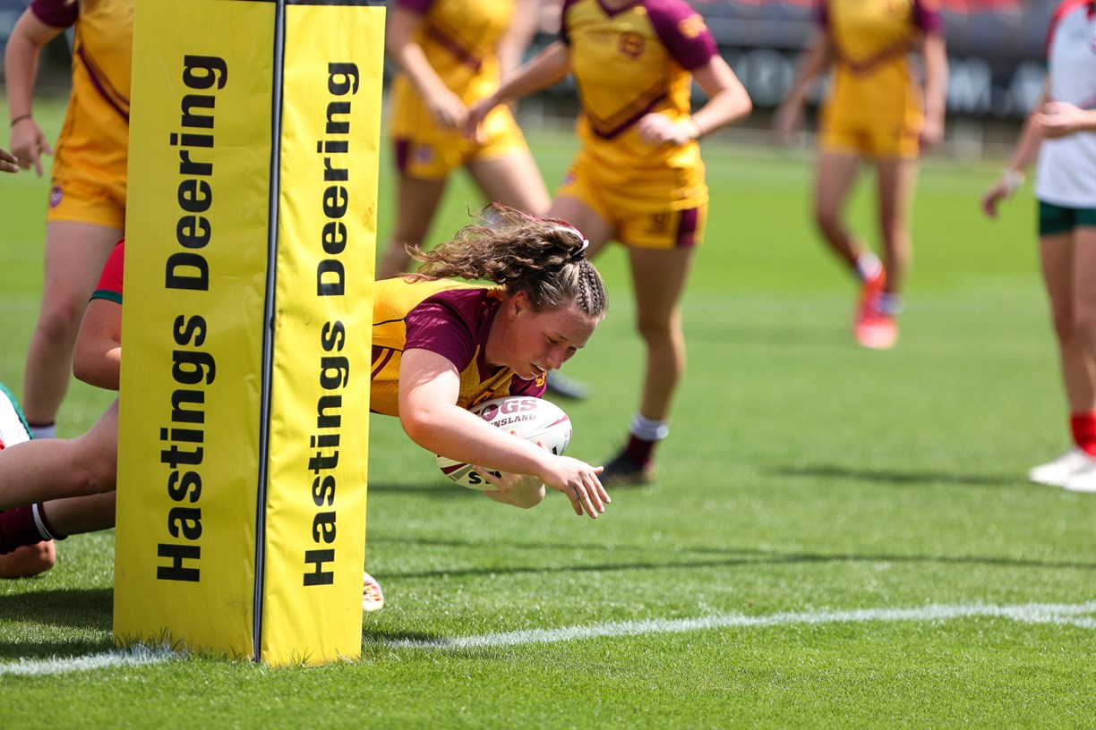City v Country U17 Girls - Girls unleash during fierce City v Country Under 17's clash (Photo's : QRL)