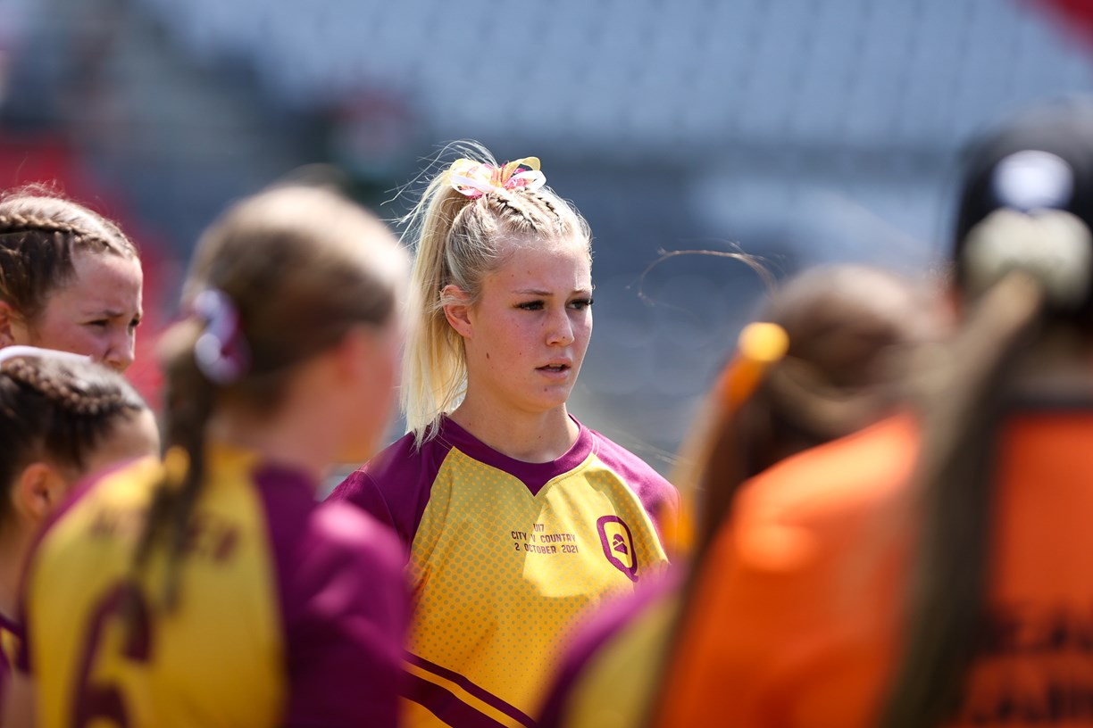 Girls unleash during fierce City v Country Under 17's clash