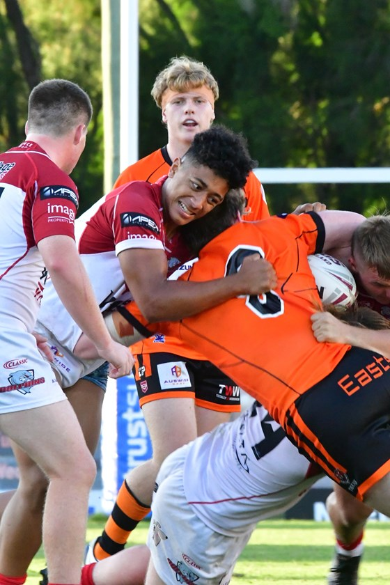 Redcliffe Dolphins and Brisbane Tigers face off in the Auswide Bank Mal Meninga Cup. All photos: Margaret Keates Photography