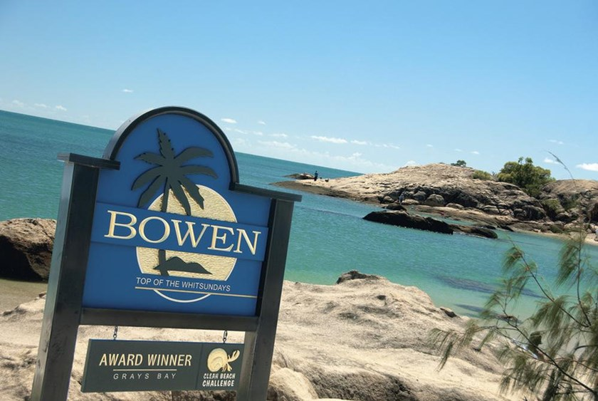 Bowen is set against the beautiful backdrop of the Coral Sea.