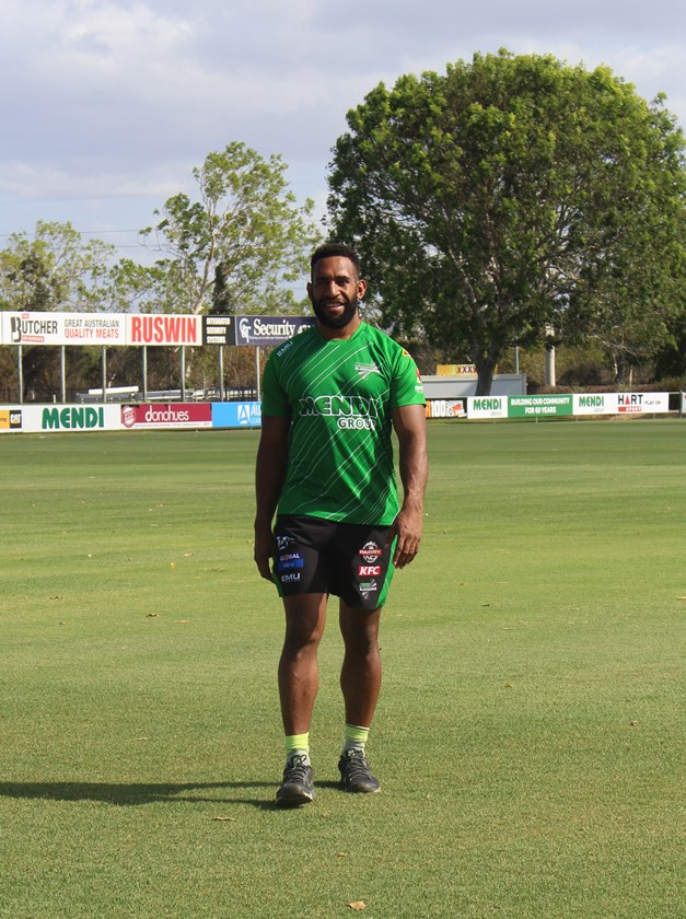 Moses Meninga is settling into his new club. Photo: Townsville Blackhawks Media