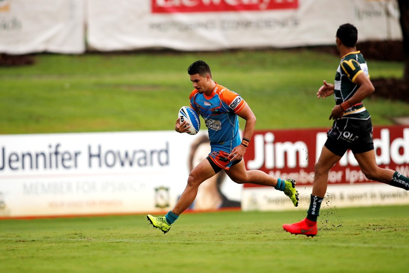 Enari Tuala in action for Northern Pride. Photo: QRL