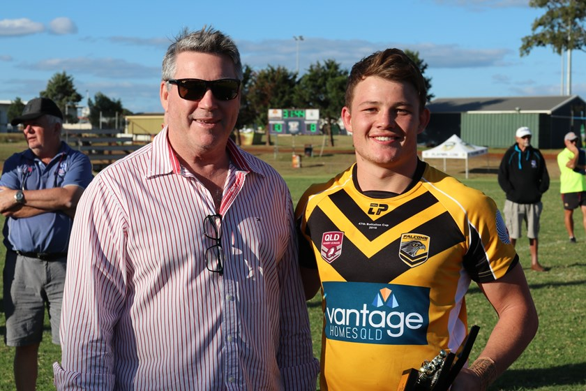 Sam Burns with QRL Managing Director Rob Moore.