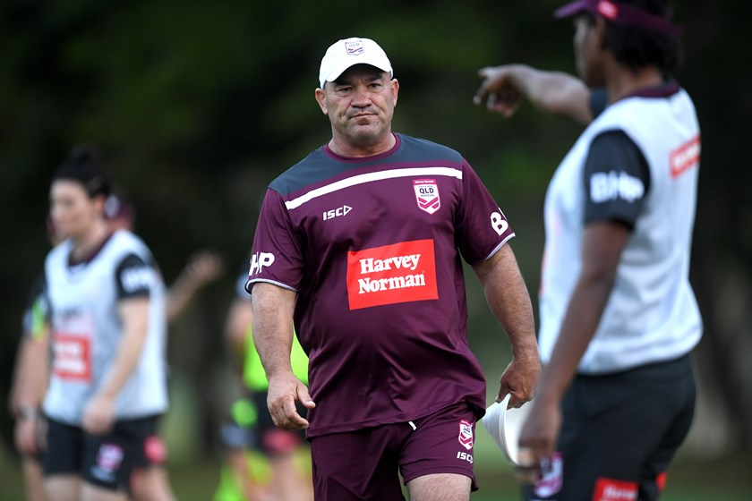 At training in 2019. Photo: NRL Images