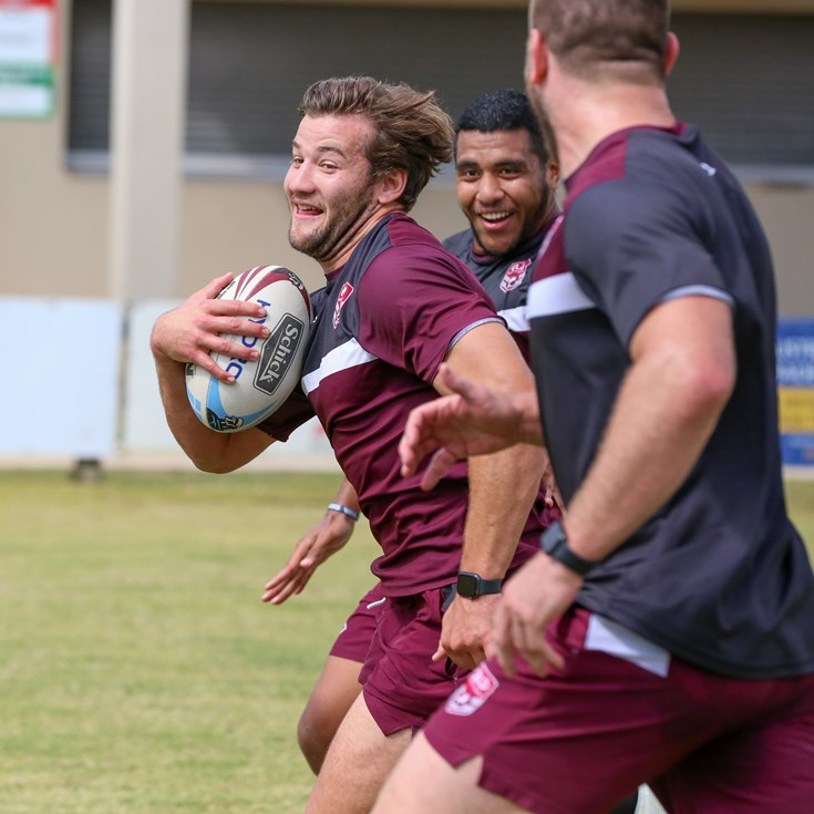 In pictures: Pre-camp training for Maroons squad members