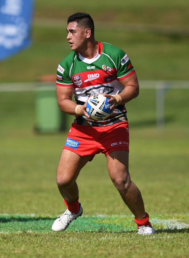 Keenan Palasia in action for Wynnum Manly Seagulls. Photo: QRL Media
