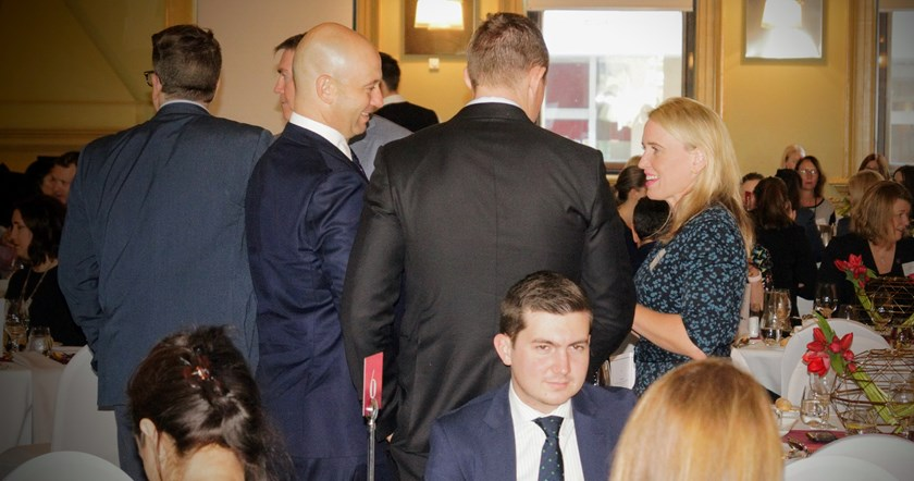 Queensland Government Minister Kate Jones mingles.
