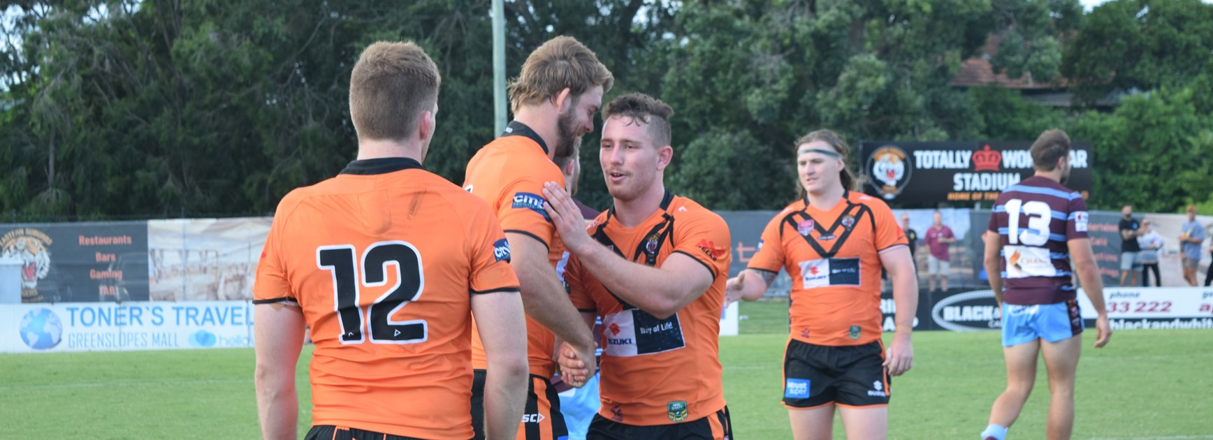 Tigers celebrate big win over Central Queensland Capras