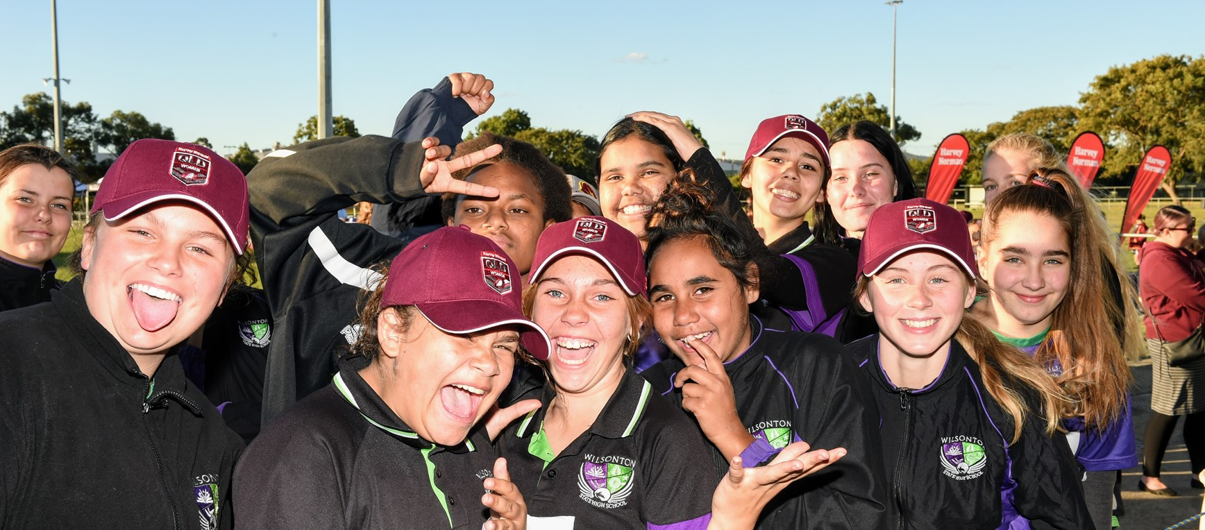Fun times as girls train with Origin stars