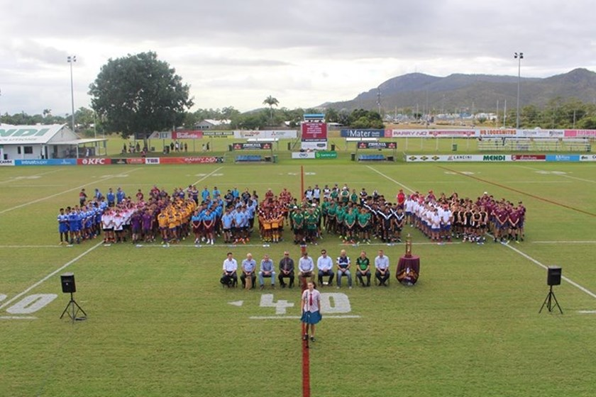 Opening ceremony for Under 15s Queensland championships held on Thursday.