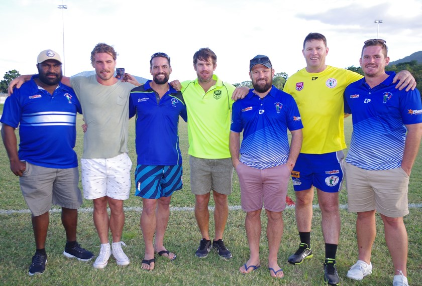 Former Cairns Brothers players Dane Kepa, Daniel Beasley, Robbie Swain, Ben Fitzpatrick, Eric Smith, Brian McAvoy and Troy Nowlan were in Cairns last month for a reunion to celebrate 10 years since the A grade team won the CDRL premiership in 2009.