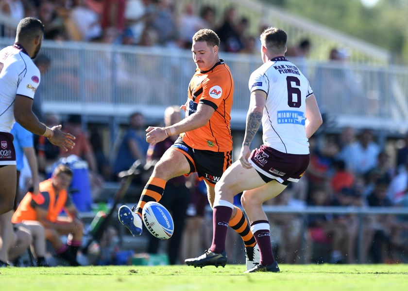 Brenko Lee in action for the Tigers. Photos: Scott Davis / QRL