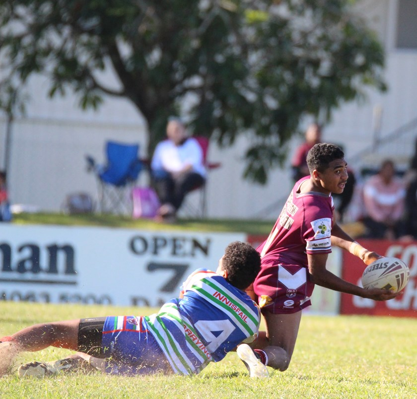 Keishon Hunter-Flanders from Yarrabah Seahawks is a top four contender for the Under 18 Best and Fairest Medal. Photo: Maria Girgenti
