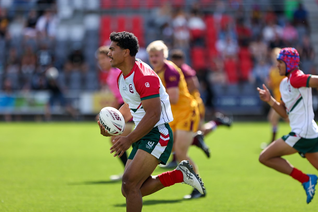 2021 QRL city v Country Under 17's boys in action at Moreton Daily Stadium on Saturday (Photo's : QRL)