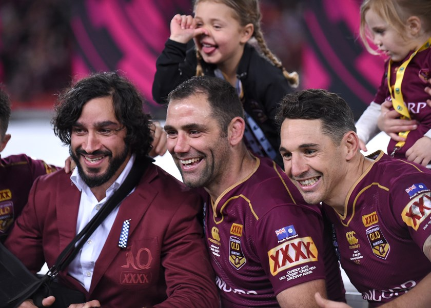 Johnathan Thurston, Cameron Smith and Billy Slater