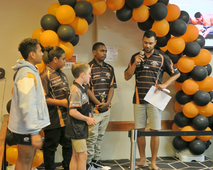 Tully Tigers Under 12 award winners.