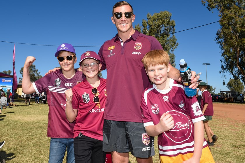 Current Queensland squad member Kurt Capewell is a proud Charleville junior and returned home with the Maroons for last year's Fan Day.