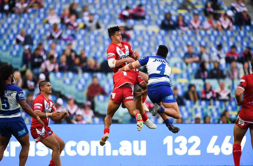 The Redcliffe Dolphins played against the NSW Cup winning Bulldogs on NRL grand final day last year. Photos: NRL Photos