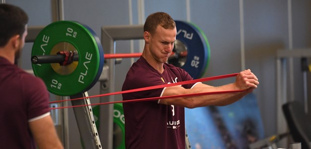 In pictures: Maroons hit the 'bubble' gym