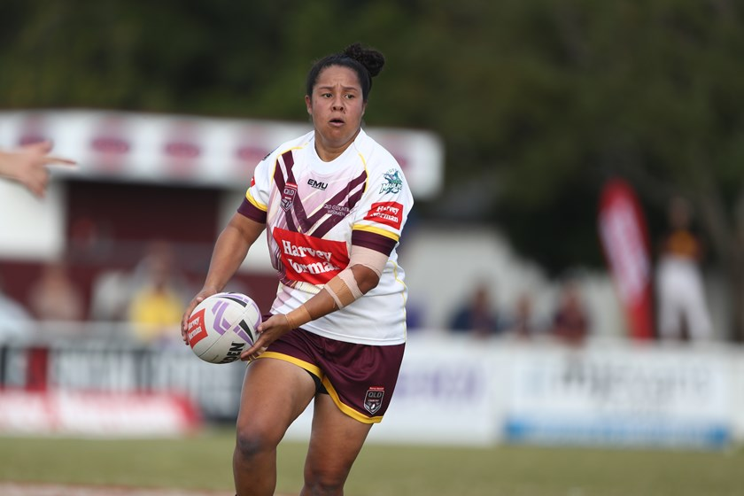 Jenni-Sue Hoepper representing Queensland Country during the Women's National Championships this year. Photo: NRL Images