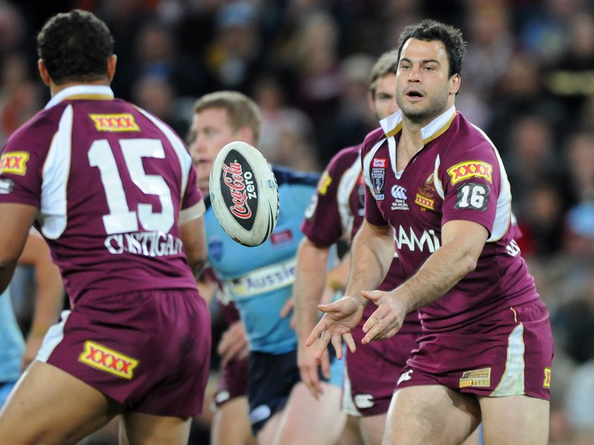 David Shillington in action for the Queensland Maroons in 2009. Photo: QRL Media