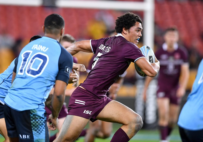 Xavier Coates in action for the Queensland Under 18 team. Photo: NRL Images