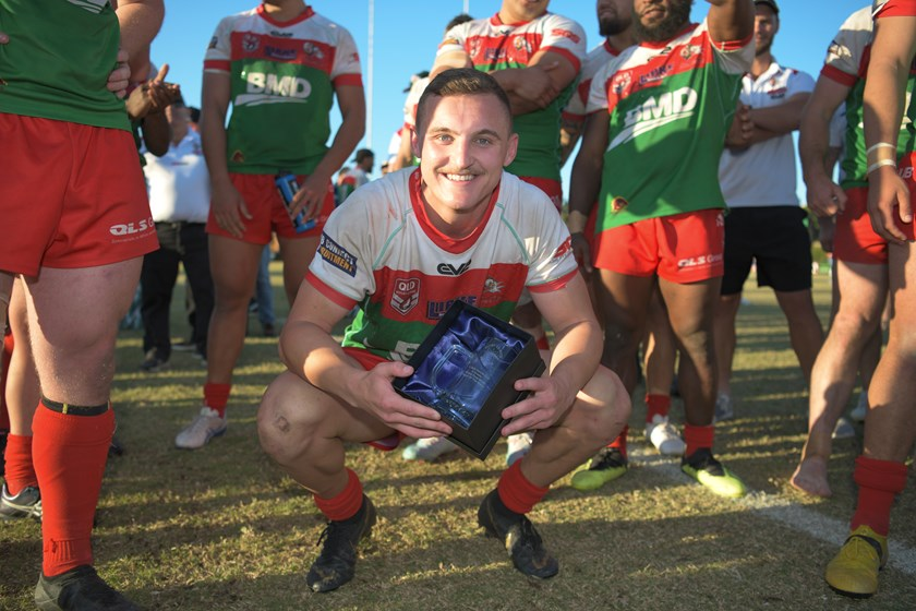 The player of the match in the BRL A Grade In Safe Hands grand final was Wynnum Manly Seagulls hooker Tristan Hope. Photos: Vanessa Hafter / QRL Media