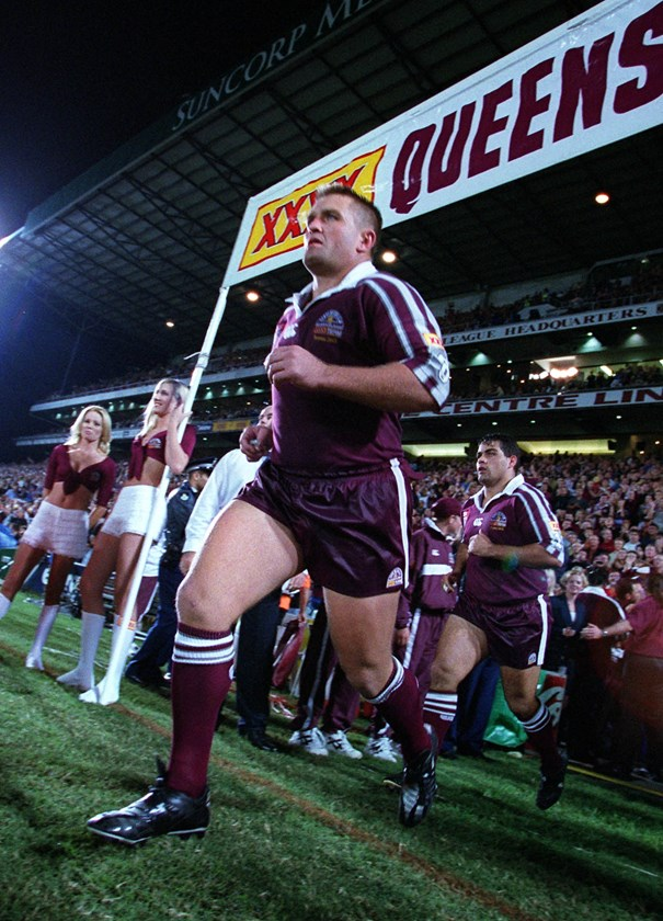 Running out in 2001. Photo: NRL Images